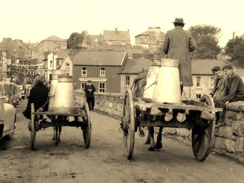 Horse and Cart on Bridge